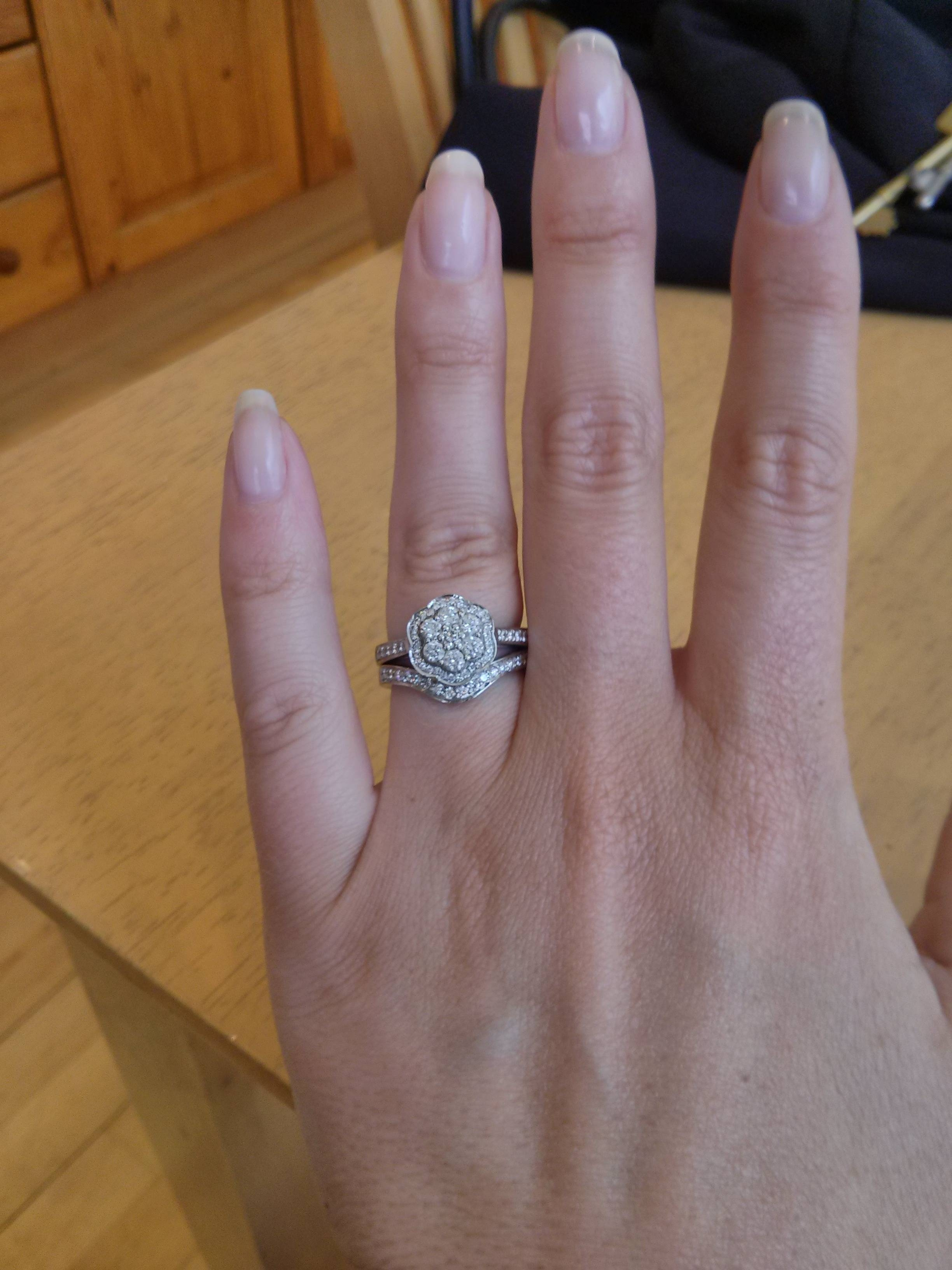 Wedding And Engagement Rings That Don't Sit Flush Together For Custom Wedding Bands To Fit Engagement Ring (View 12 of 15)
