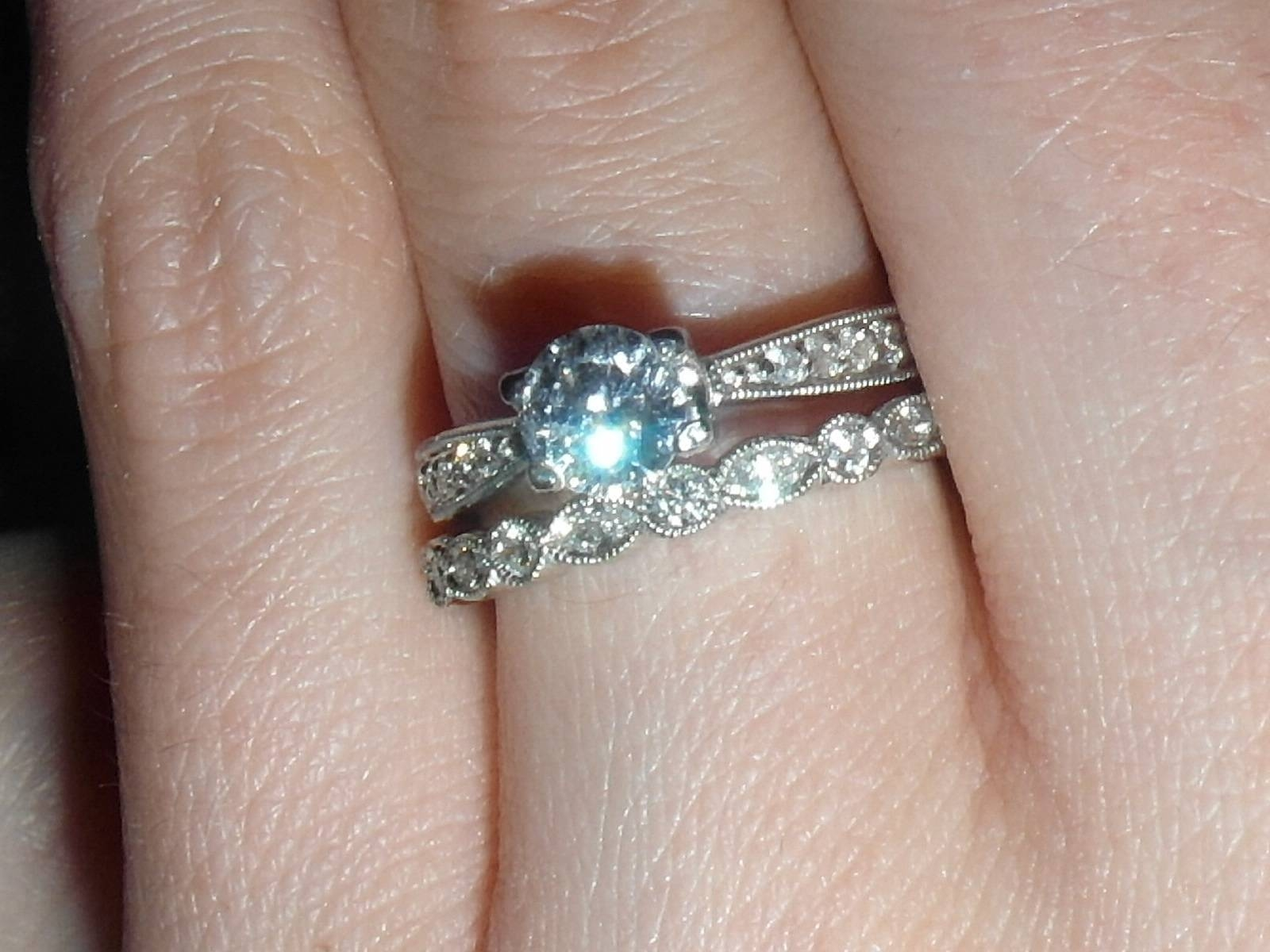 Wedding And Engagement Rings That Don't Sit Flush Together Pertaining To Custom Wedding Bands To Fit Engagement Ring (View 13 of 15)