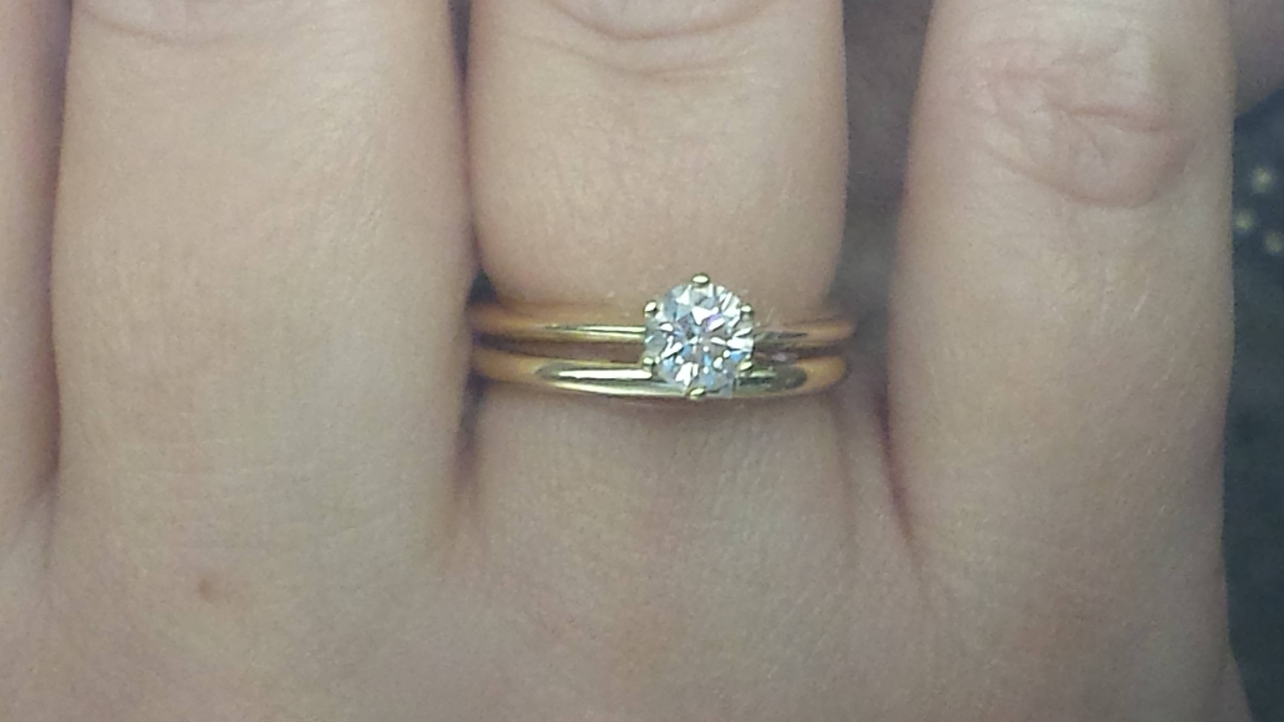 Wedding Band Help! Plain + Solitaire. – Weddingbee In  (View 14 of 15)
