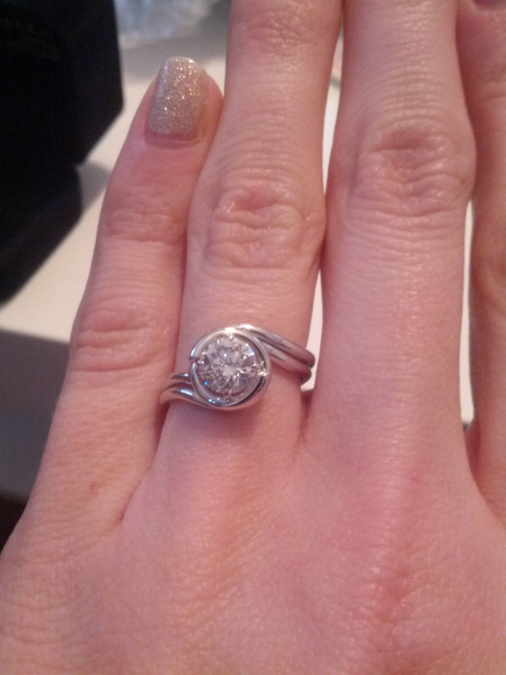 Wedding Band Ideas For My Odd Shaped Engagement Ring Inside Wedding Engagement Bands (View 15 of 15)