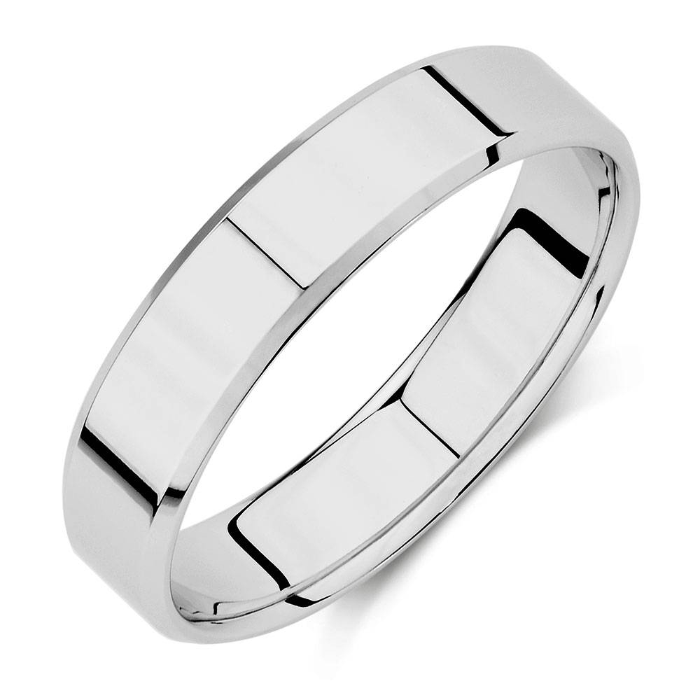 Wedding Band In 10ct White Gold For Michael Hill Mens Wedding Bands (View 5 of 15)
