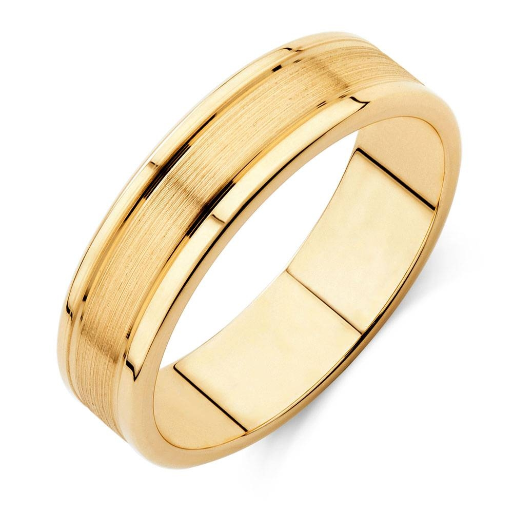 Wedding Band In 10Kt Yellow Gold In Michael Hill Mens Wedding Bands (View 15 of 15)