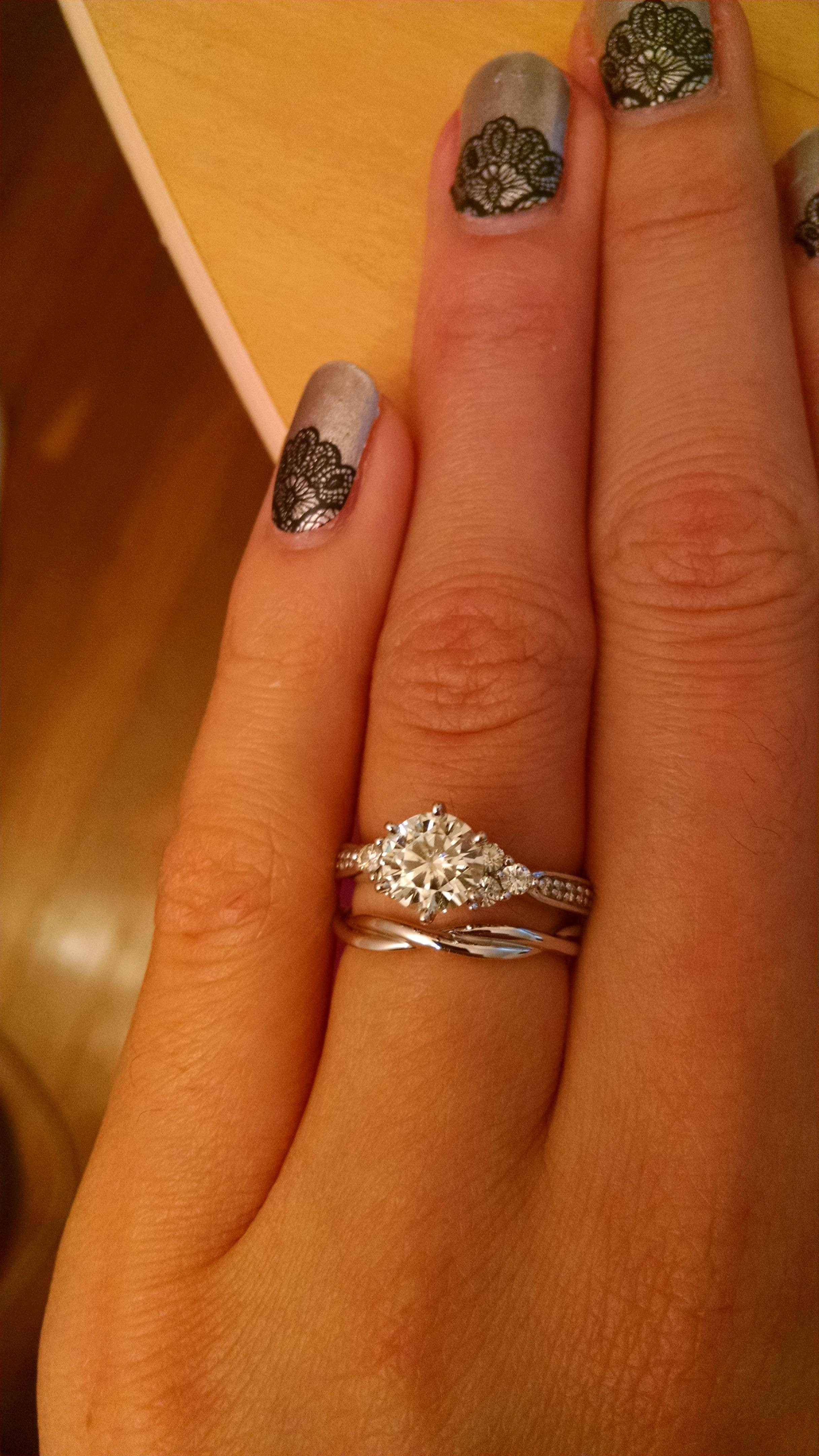 Wedding Bands For Twisted Engagement Rings! : Weddingplanning Inside Wedding Bands For Twisted Engagement Rings (View 14 of 15)
