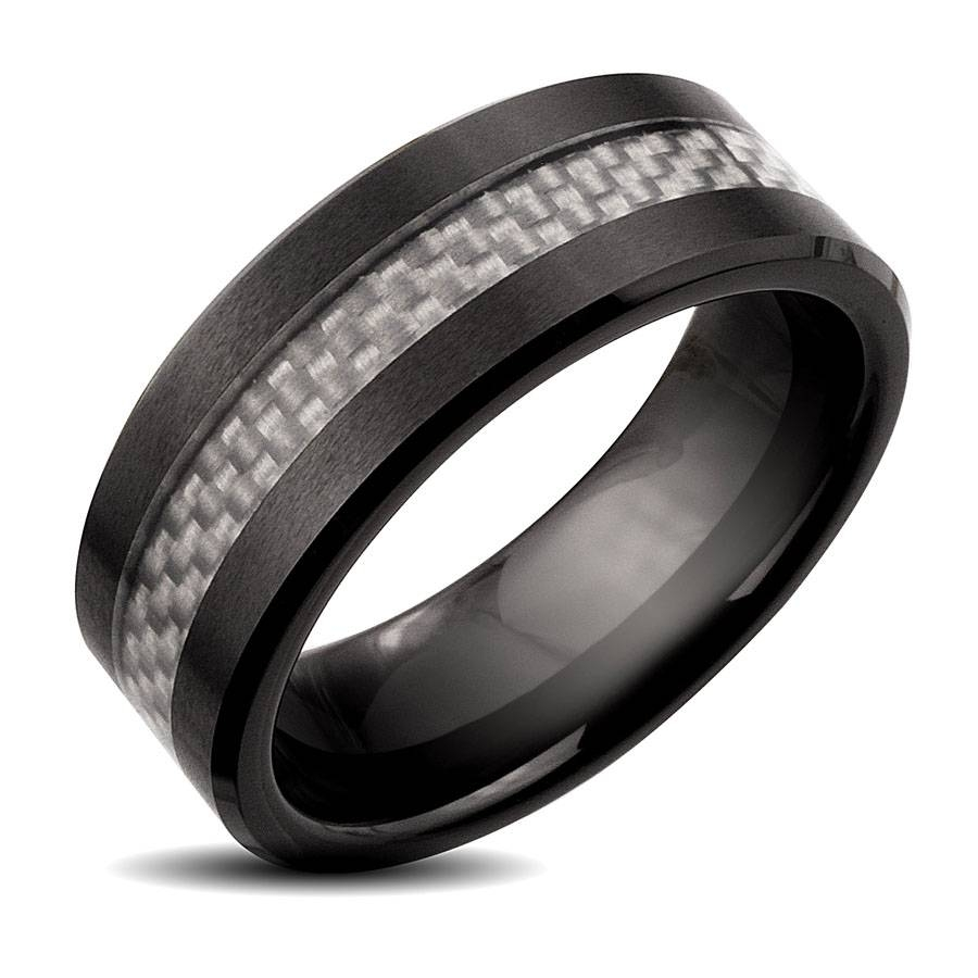 2018 Popular Black And Silver Mens Wedding Bands