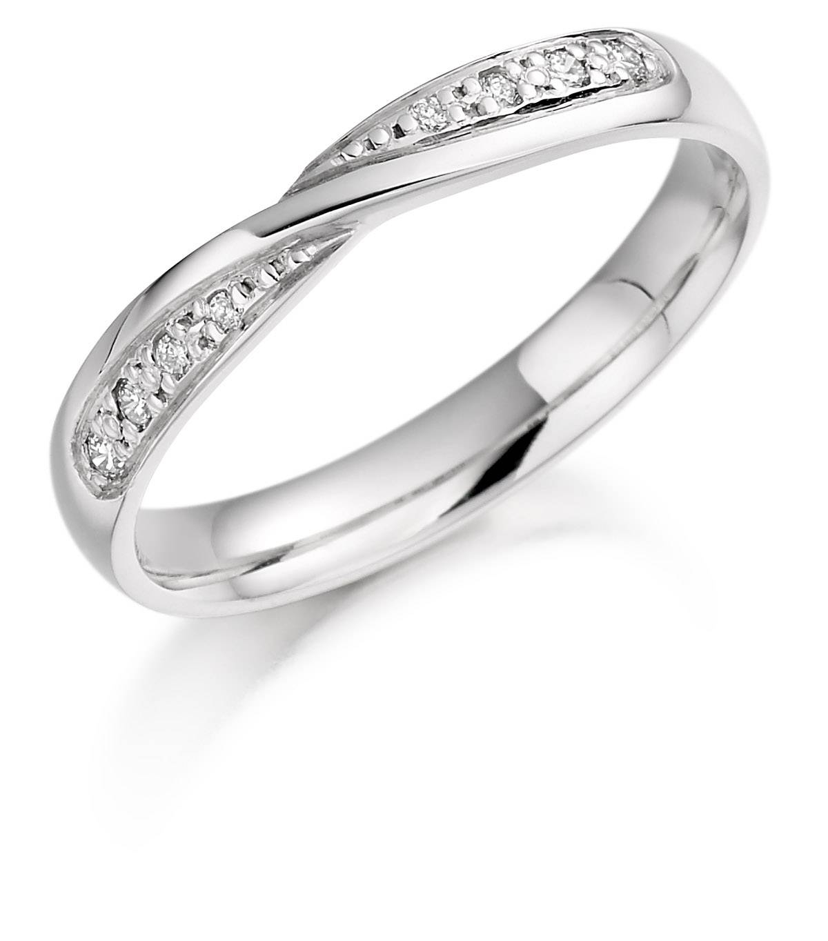 Featured Photo of Twisted Diamond Wedding Bands