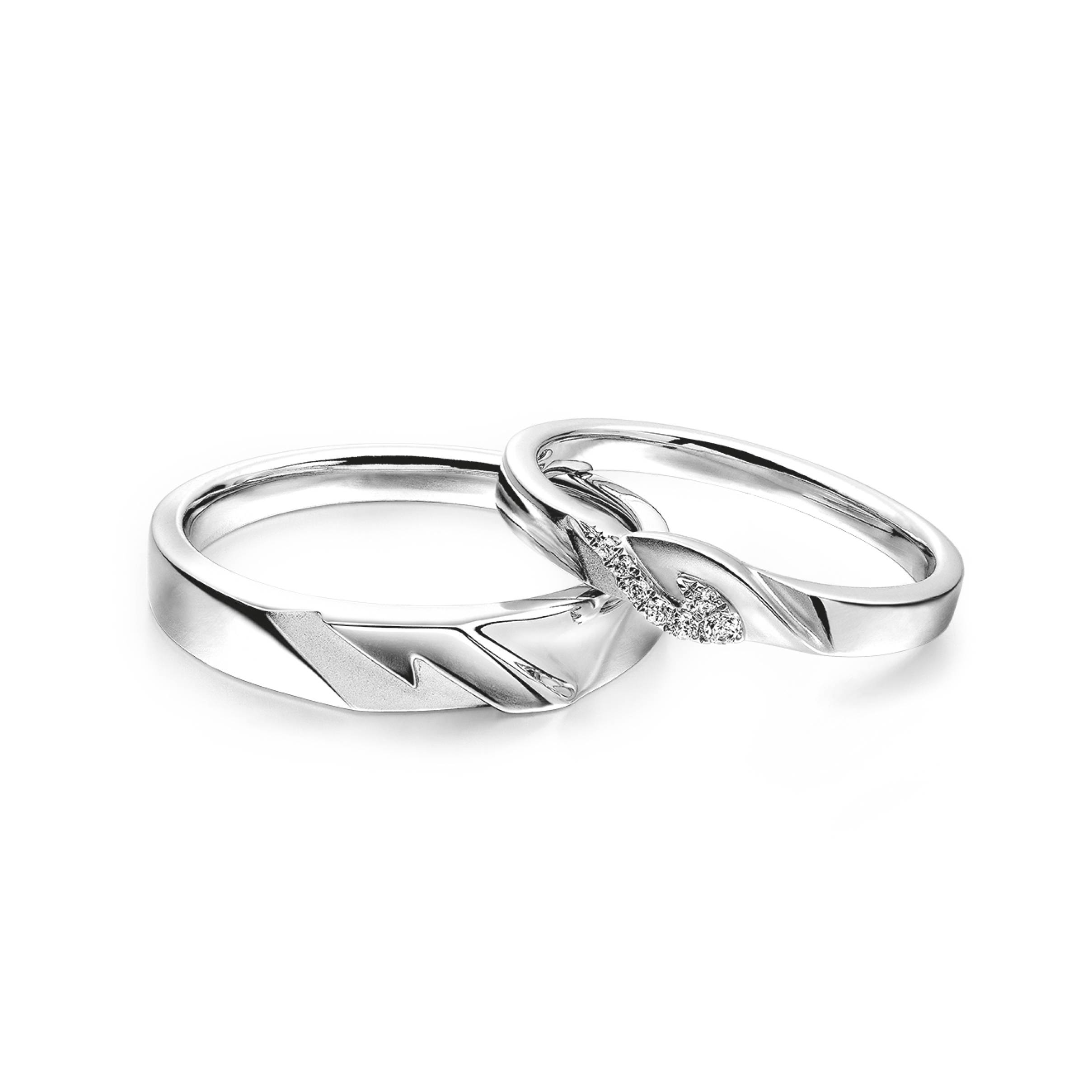 Wedding Collection – Lukfook Jewellery|Lukfook Jewellery Official Throughout 18K White Gold Wedding Rings (View 14 of 15)