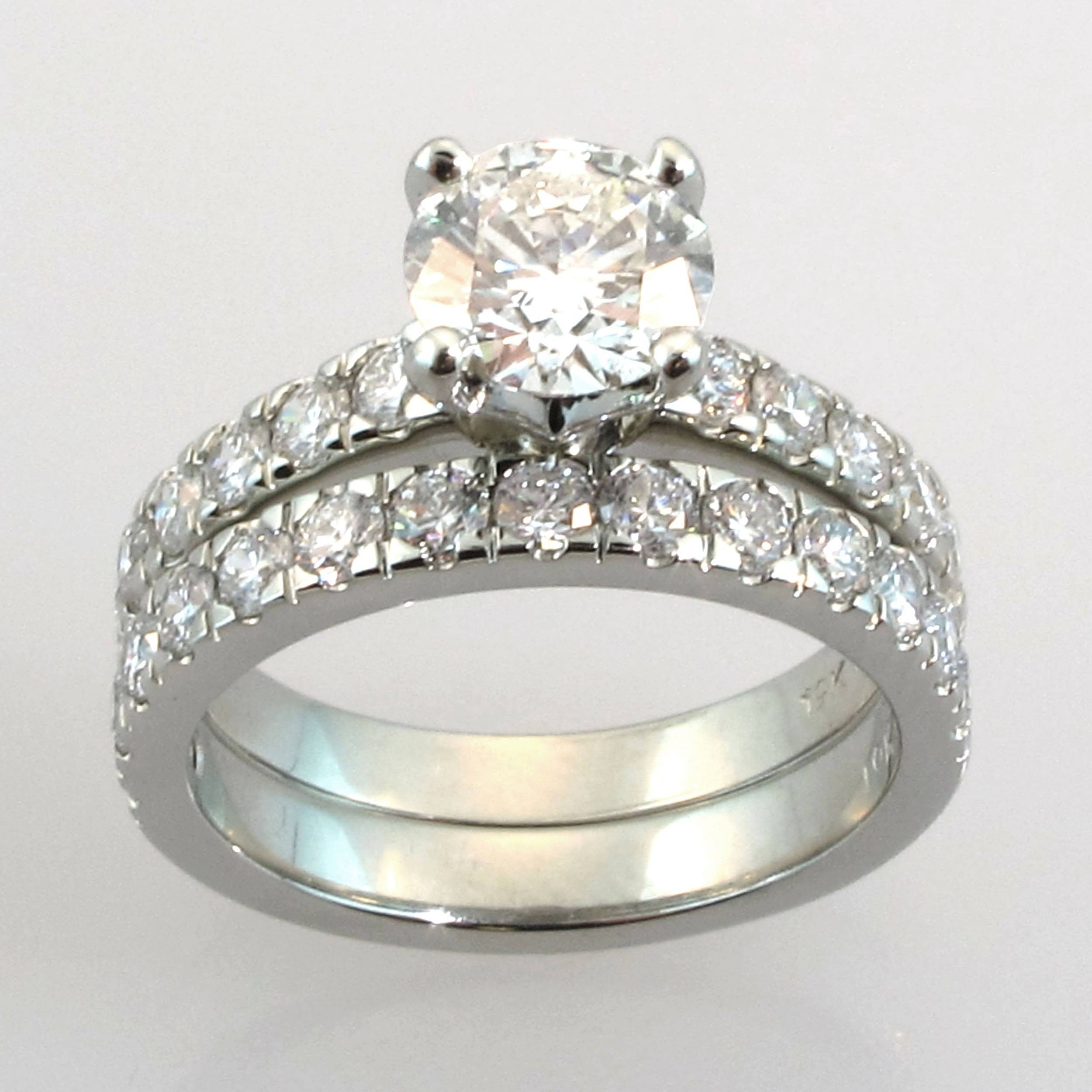 Wedding Engagement Ring Sets | Eternity Jewelry Throughout Gold Engagement And Wedding Rings (View 11 of 15)