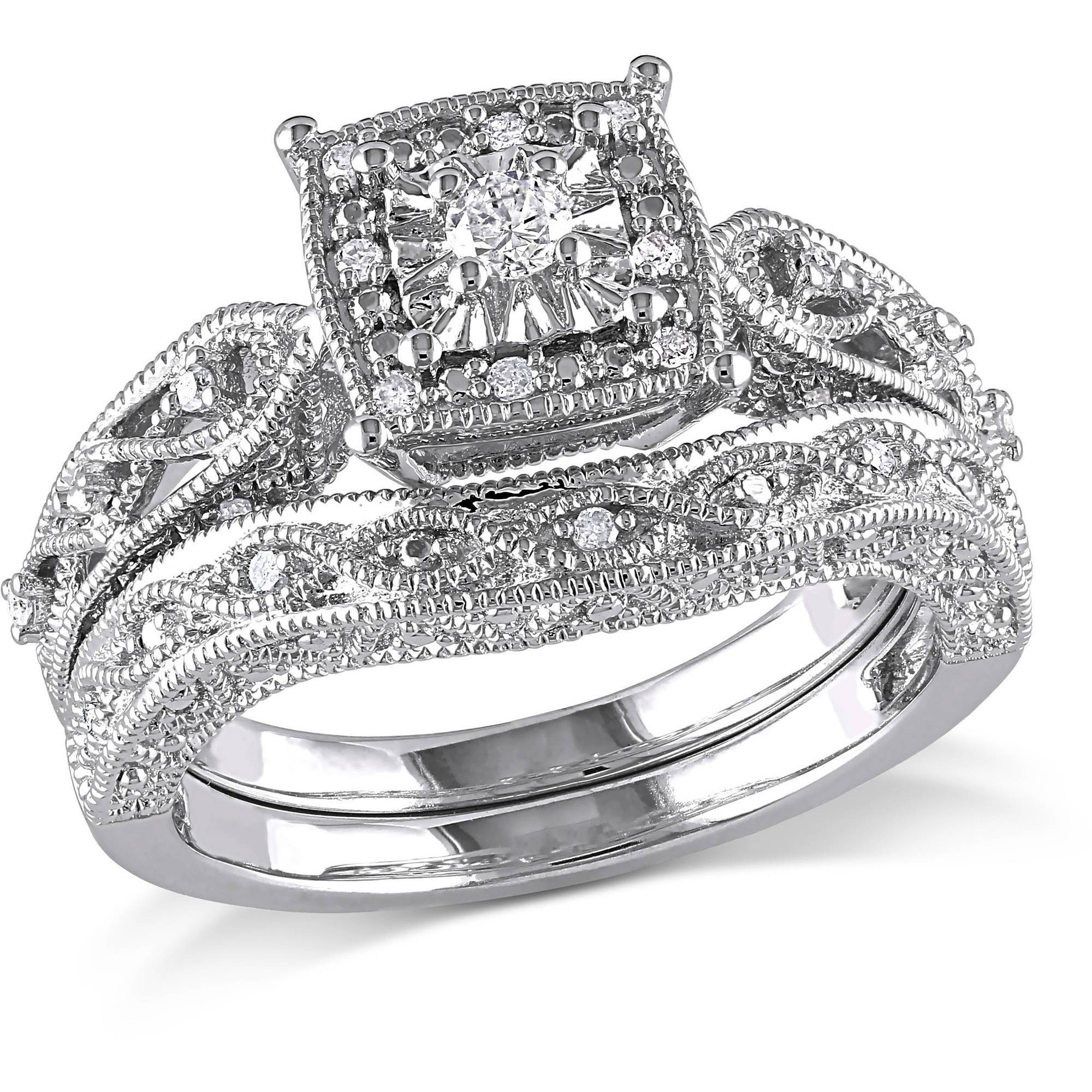 Wedding & Engagement Rings – Walmart Within Zales Men's Diamond Wedding Bands (View 9 of 15)