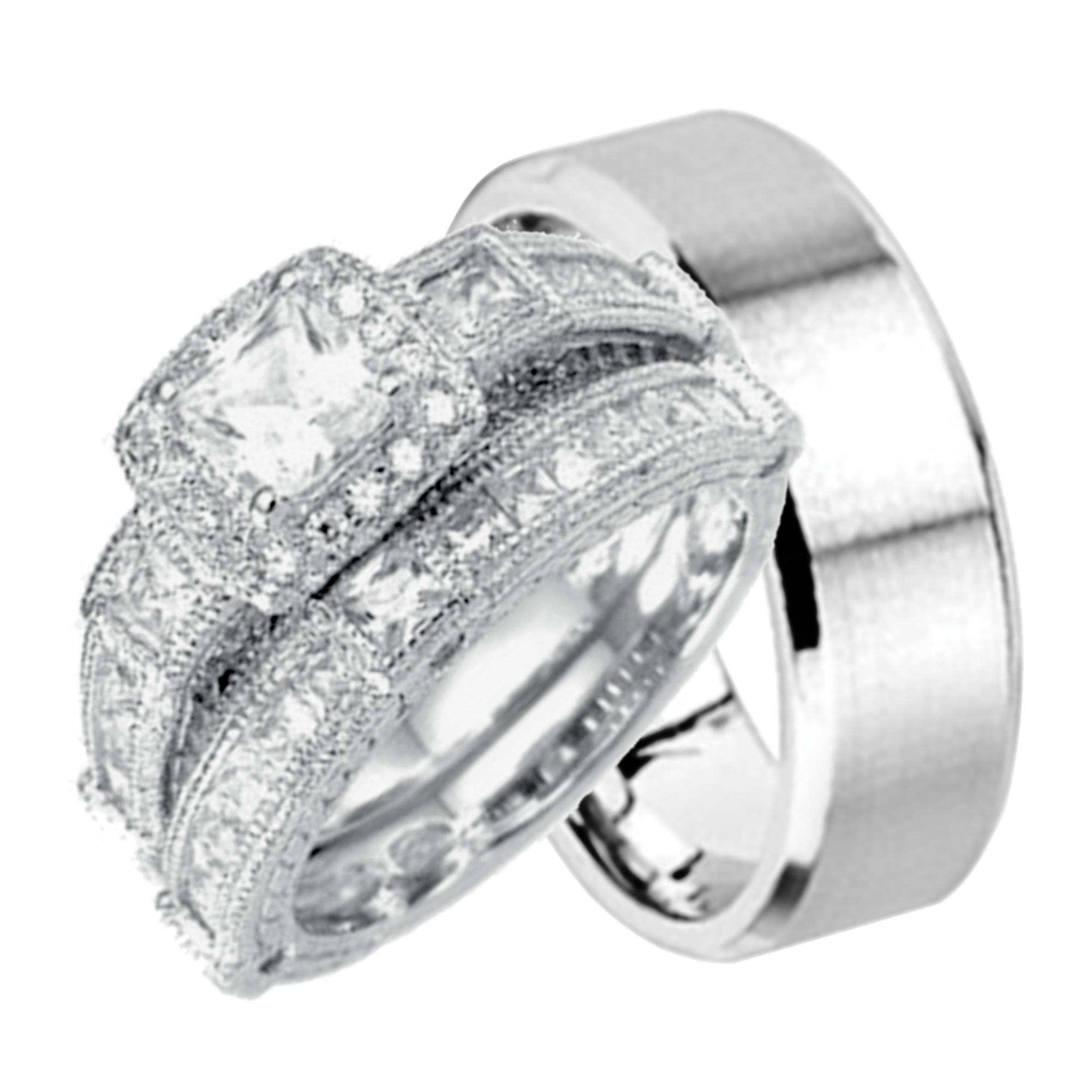 Wedding Ring Sets For Him & Her Within Wedding Bands Sets For Him And Her (View 9 of 15)