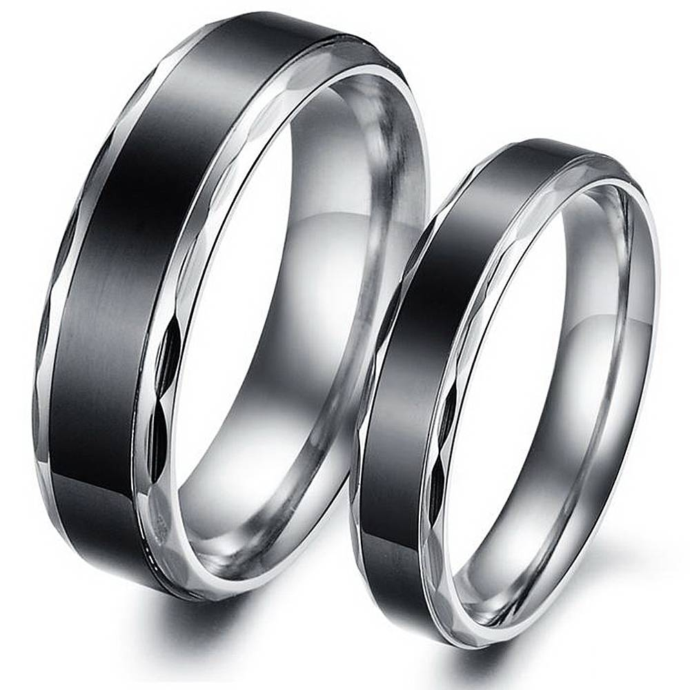 Wedding Rings : Amazing Wedding Rings Him And Her Black Onyx S Pertaining To Black Onyx Wedding Bands (View 15 of 15)