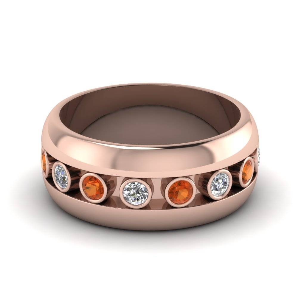 Wedding Rings & Bands | Fascinating Diamonds Within Rose Gold Men's Wedding Bands With Diamonds (View 15 of 15)