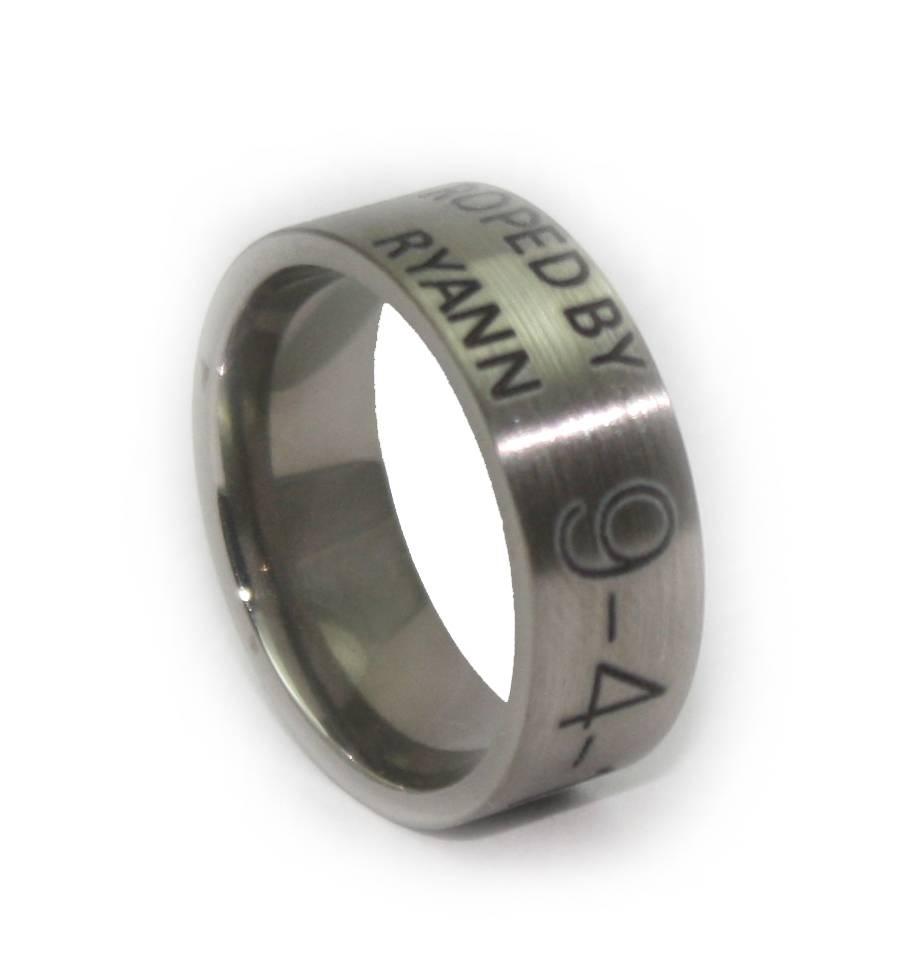 Wedding Rings : Black Mens Wedding Rings Wonderful Wedding Rings With Engravable Men's Wedding Bands (View 13 of 15)