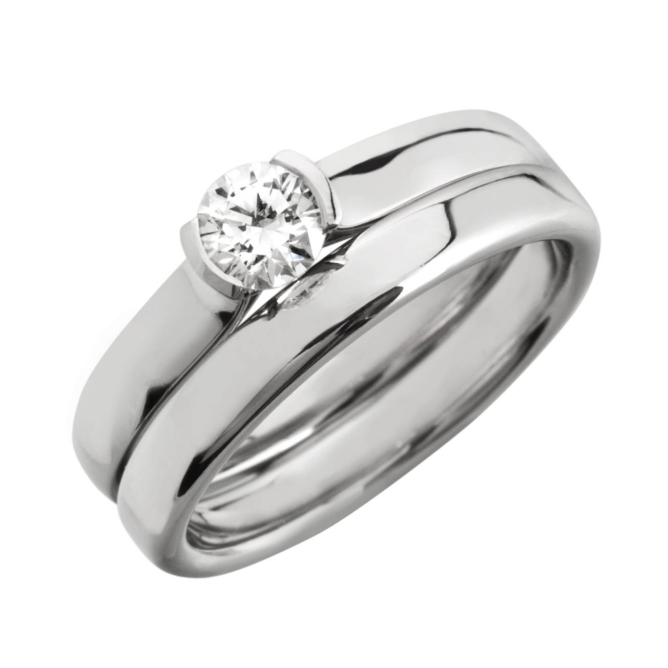 Wedding Rings : Bridal Set Diamond Rings Diamond Engagement Ring Regarding Engagement Wedding Bands (View 10 of 15)