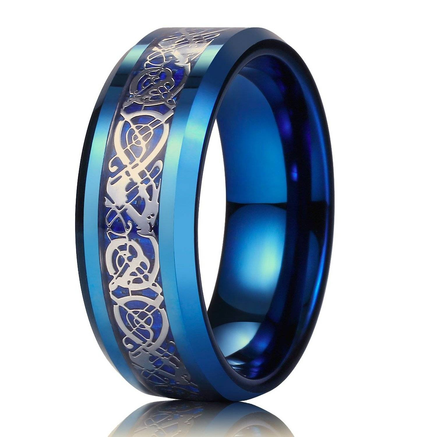 Wedding Rings : Celtic Wedding Bands For Him Irish Celtic Wedding Pertaining To Blue Wedding Bands For Him (View 10 of 15)