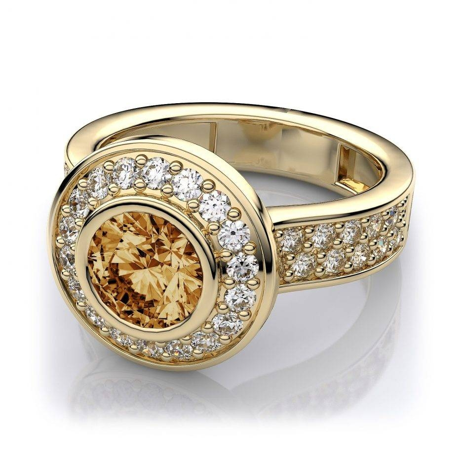 Wedding Rings : Citrine Yellow Gold Ring November Rings Citrine Throughout November Birthstone Engagement Rings (View 14 of 15)