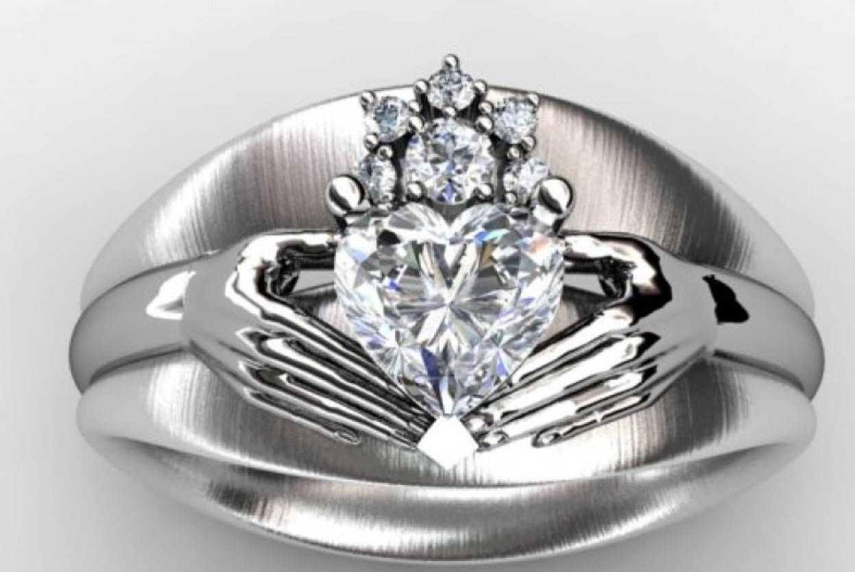 Wedding Rings : Claddagh Wedding Rings Trendy' Rare Claddagh Regarding Irish Engagement Ring Sets (View 10 of 15)