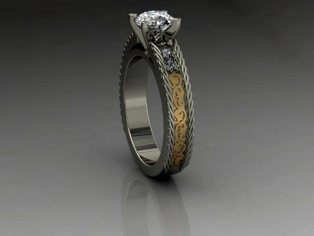 diamond photos gallery wedding cowboy rings full image displaying attachment bands on view enchating western country cowboyjewelers of