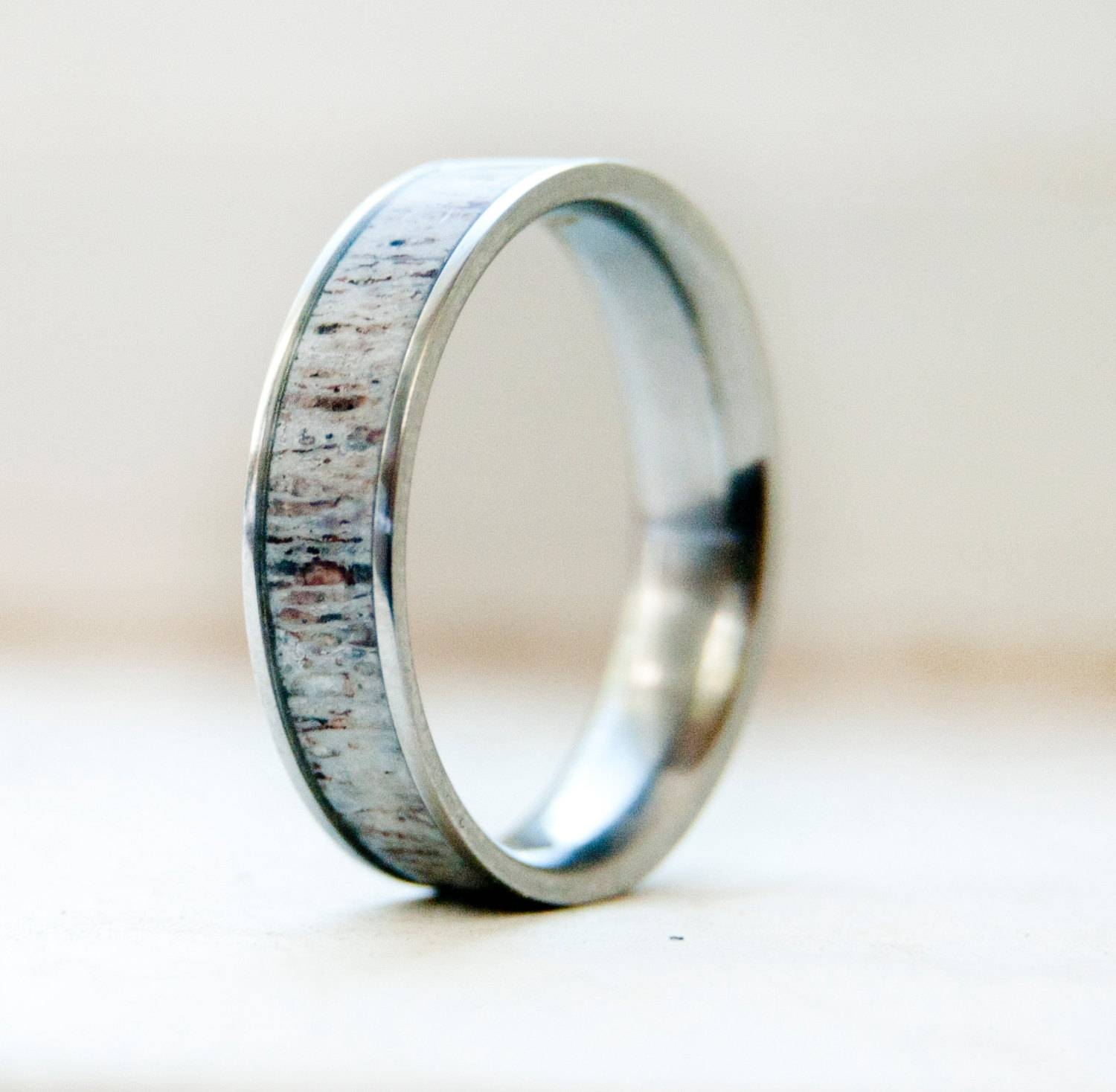 Wedding Rings : Deer Antler Ring Beautiful Mens Wedding Rings Pertaining To Mens Wedding Bands With Deer Antlers (View 12 of 15)