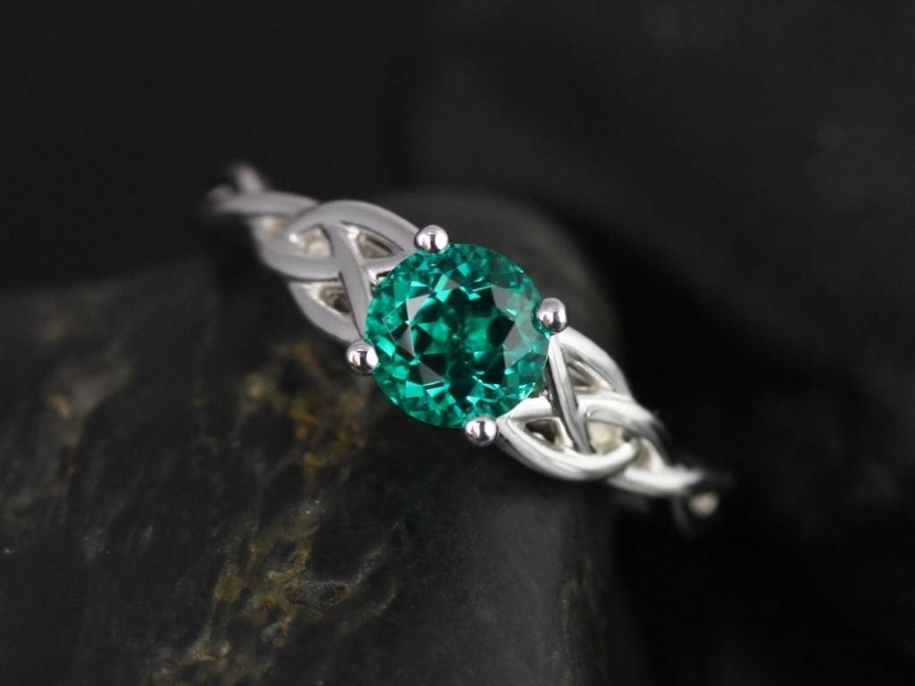 Wedding Rings : Diamond And Emerald Wedding Rings Emeralds Inside Engagement Rings Emeralds (View 13 of 15)