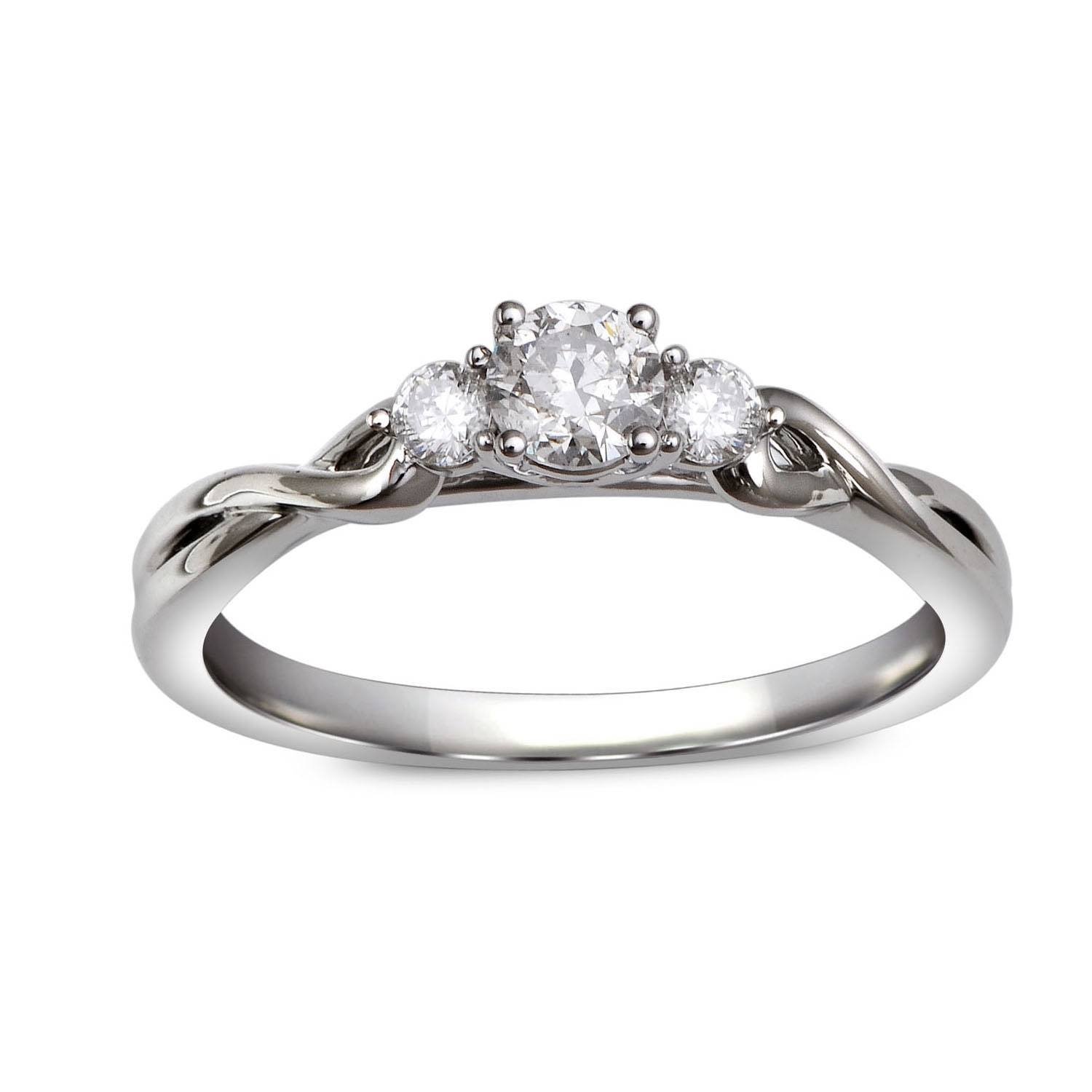 Wedding Rings : Diamond Infinity Ring Infinity Style Engagement Within Infinity Style Engagement Rings (View 13 of 15)