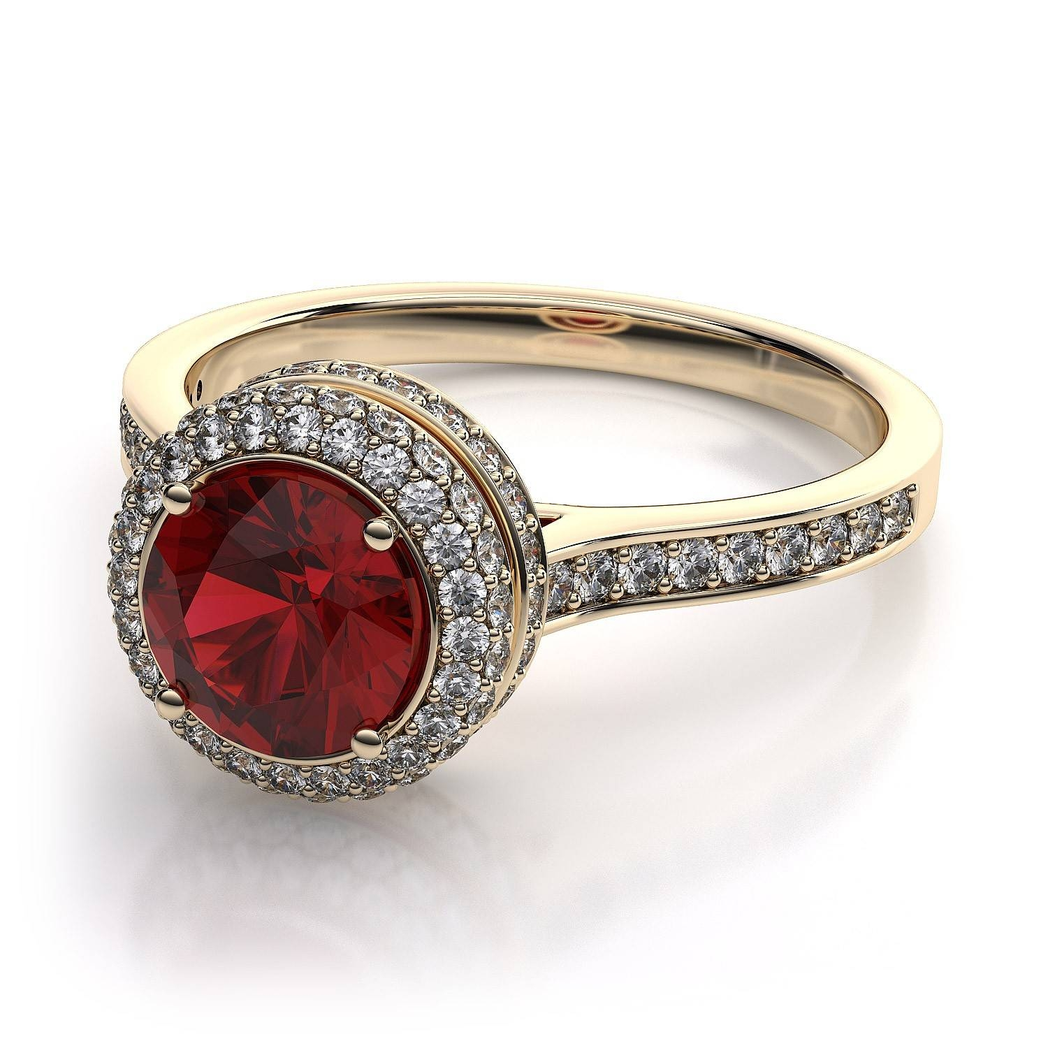 Wedding Rings : Diamond Ruby Wedding Ring Ruby Ring White Gold Regarding Gold Ruby Engagement Rings (View 5 of 15)