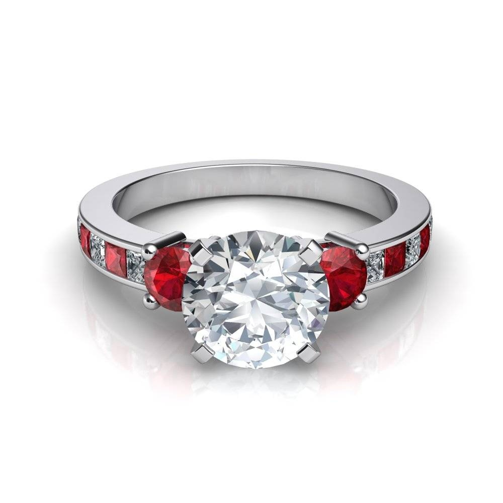 Wedding Rings : Emerald Cut Ruby Ring Ruby Ring For Men Ruby With Engagement Rings Ruby And Diamond (View 13 of 15)