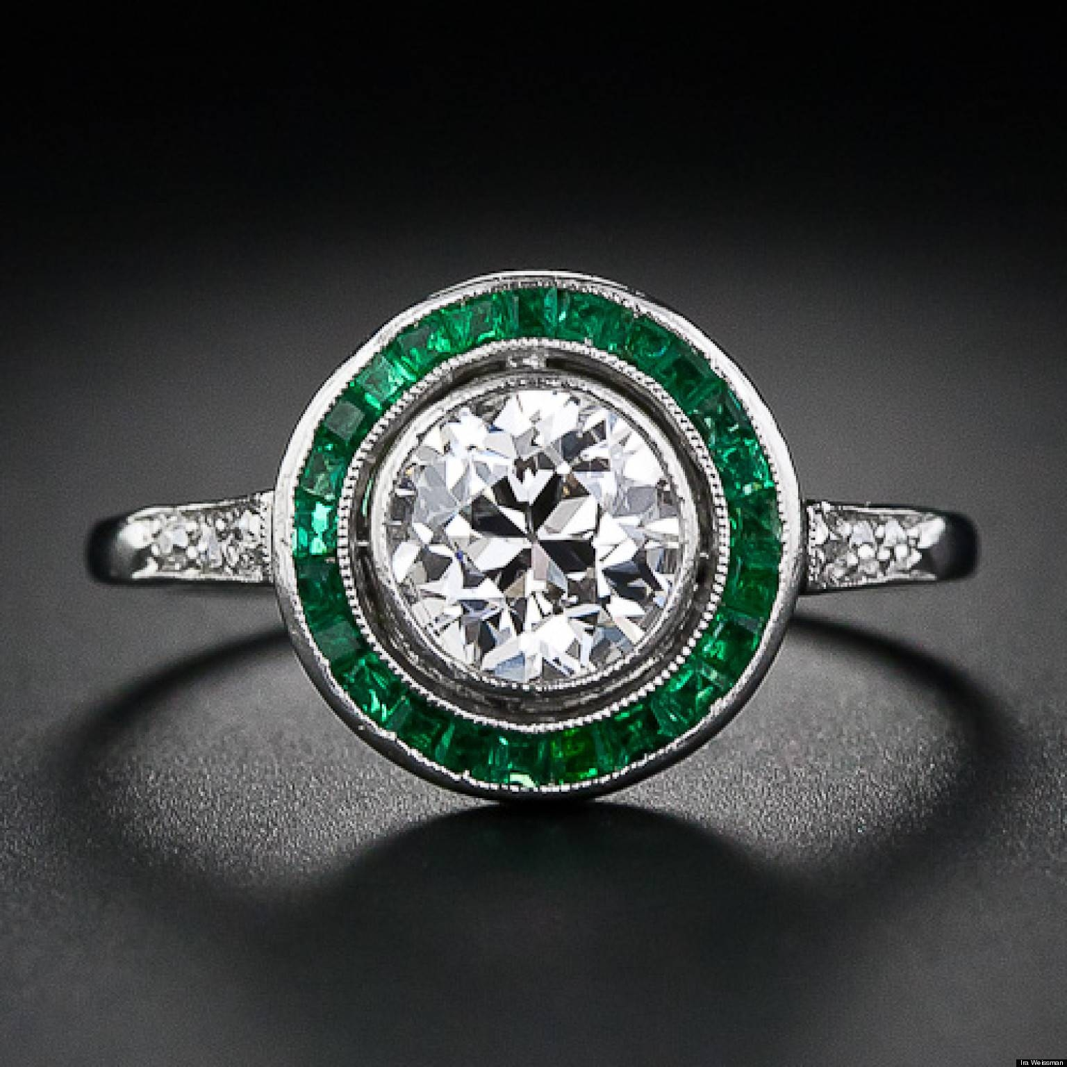 Wedding Rings : Emerald Engagment Rings Engagement Ring With Inside Engagement Rings With Emerald (View 11 of 15)