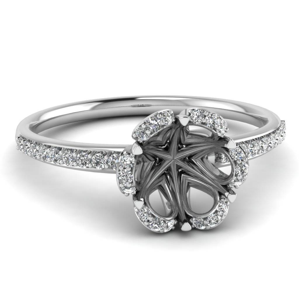 Wedding Rings : Engagement Ring Settings Without Center Stone With Regard To Engagement Mounts (View 10 of 15)