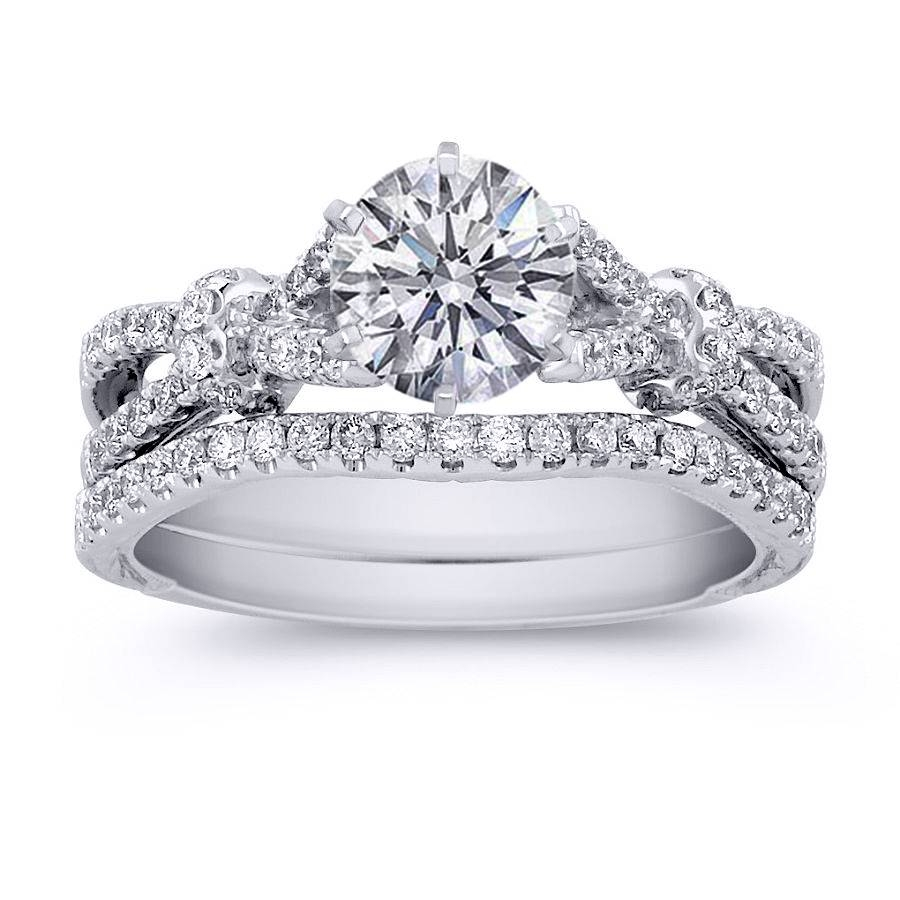Wedding Rings : Engagement Ring Wedding Band Sets Princess Cut With Regard To Interlocking Wedding Band And Engagement Rings (View 6 of 15)