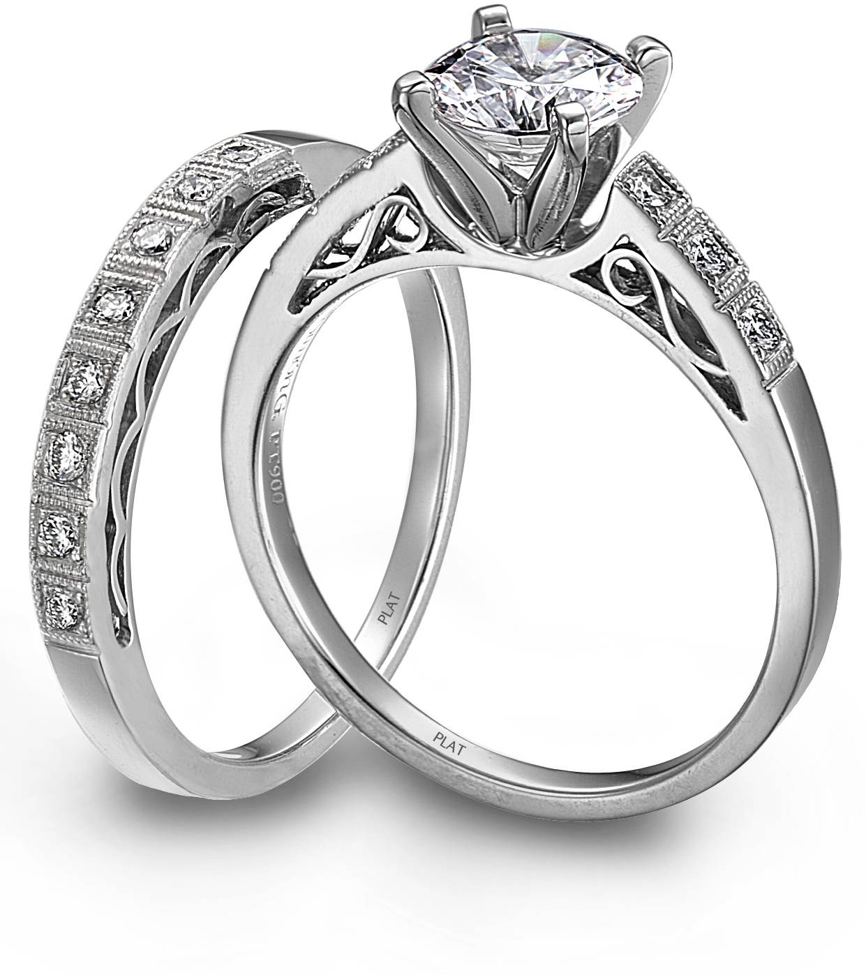 Wedding Rings : Engagement Rings Set Diamond Bridal Ring Sets Regarding Engagement Marriage Rings (View 7 of 15)