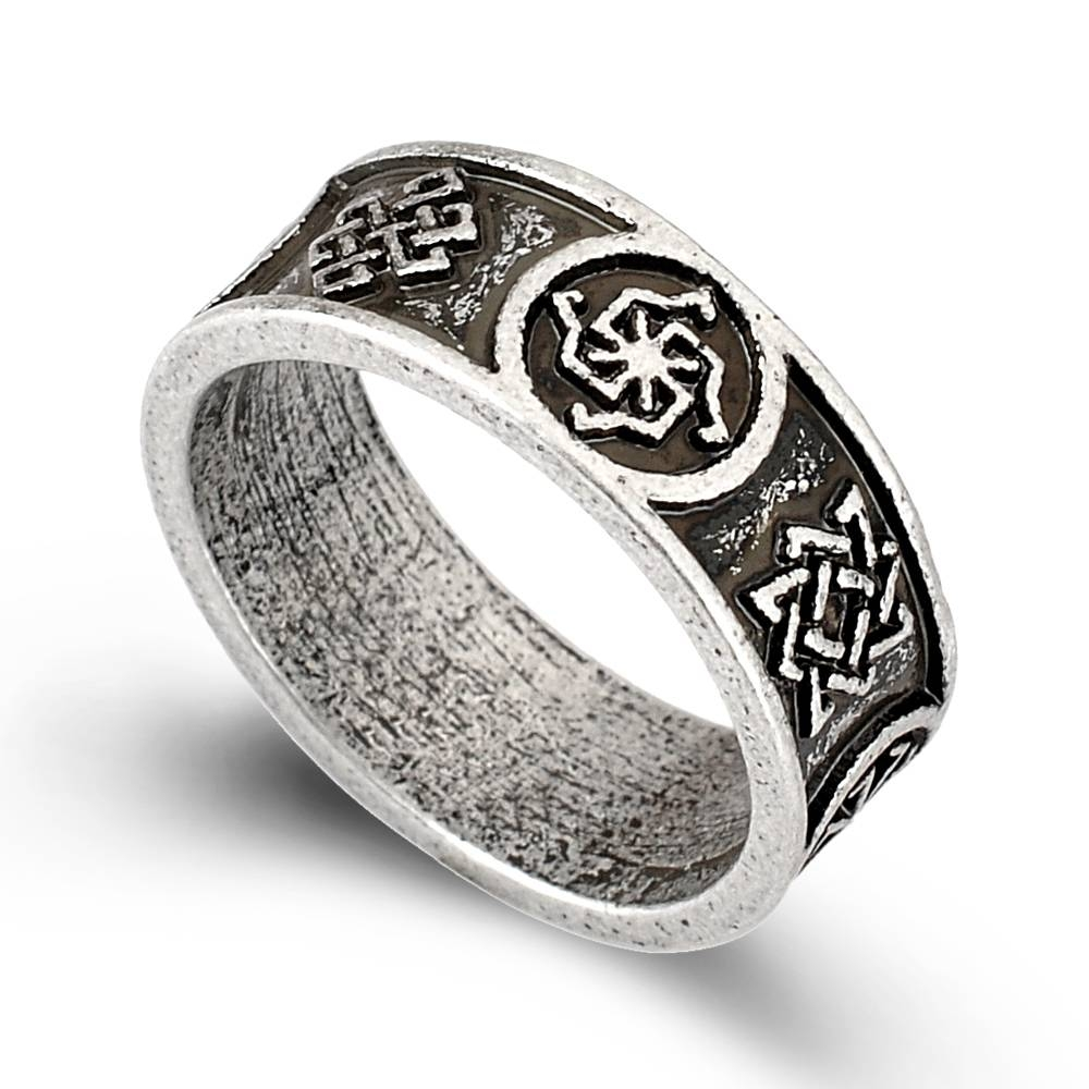 rings itm nordic odin ring men viking compass pirate norse valknut finger runic symbol wedding
