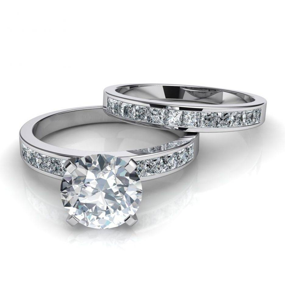 Wedding Rings : Engagement & Wedding Ring Sets Diamond Wedding Throughout Interlocking Engagement Rings (View 10 of 15)