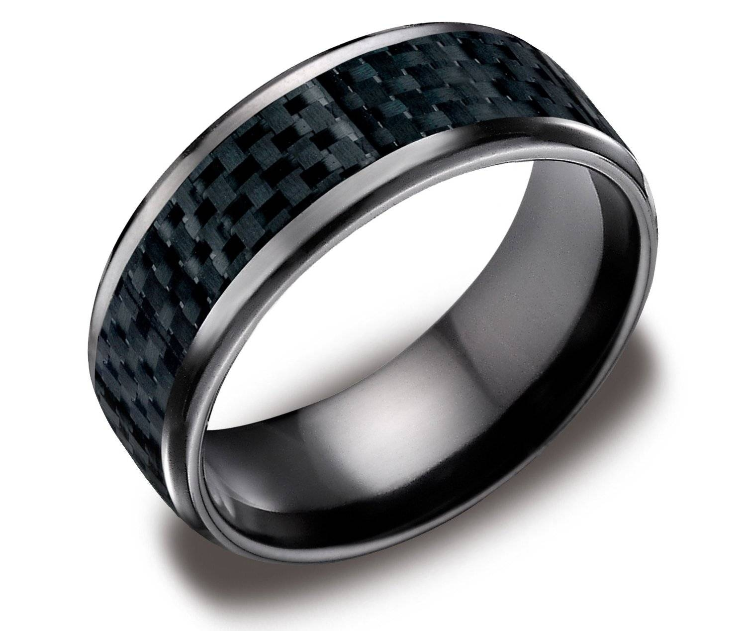 Wedding Rings For Men: Minimalist, Vintage And Futuristic Ideas Throughout Black Wedding Bands For Him (View 15 of 15)