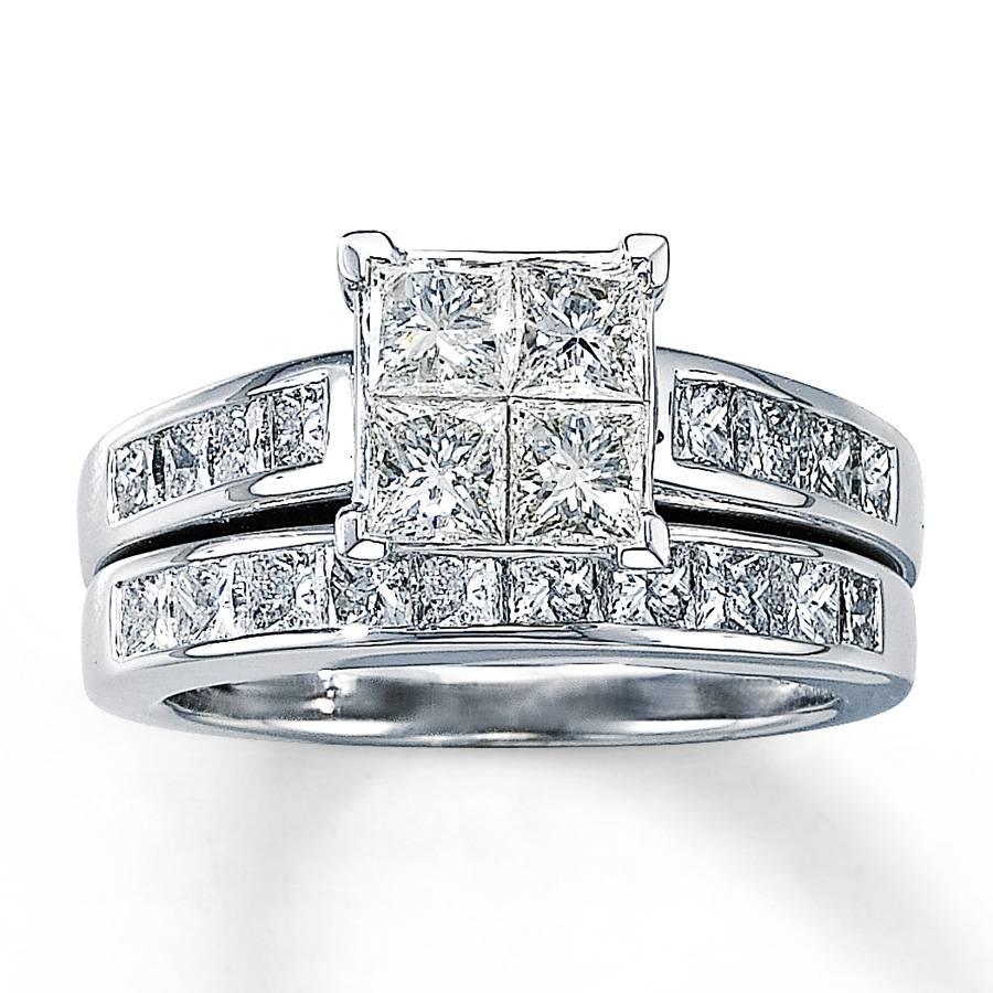 Wedding Rings Ideas: Princess Cut Diamond Thick Bands Solitaire Pertaining To Princess Cut Diamond Wedding Rings Sets (View 14 of 15)