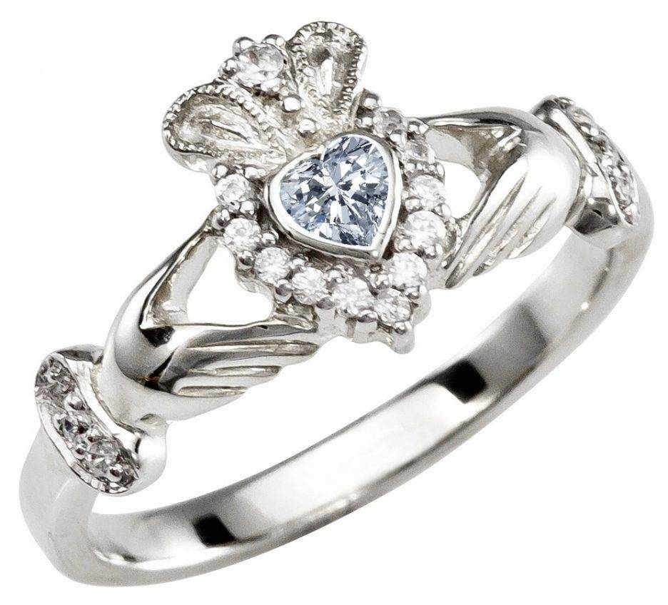 Wedding Rings : Irish Jewelry Irish Claddagh Ring Celtic Knot With Claddagh Rings Engagement Sets (View 13 of 15)