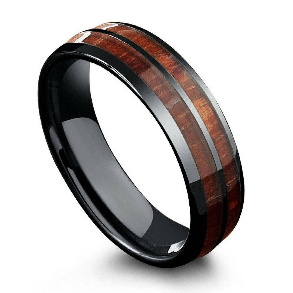 tungsten carbide and ring edges rings with polished durable beveled comfort wedding fit antler buck ombre dp inlay lightweight