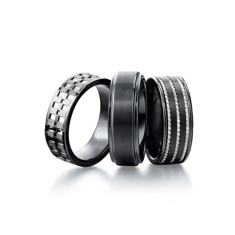 Wedding Rings Mens Blue Ceramic Bands Regarding Durable