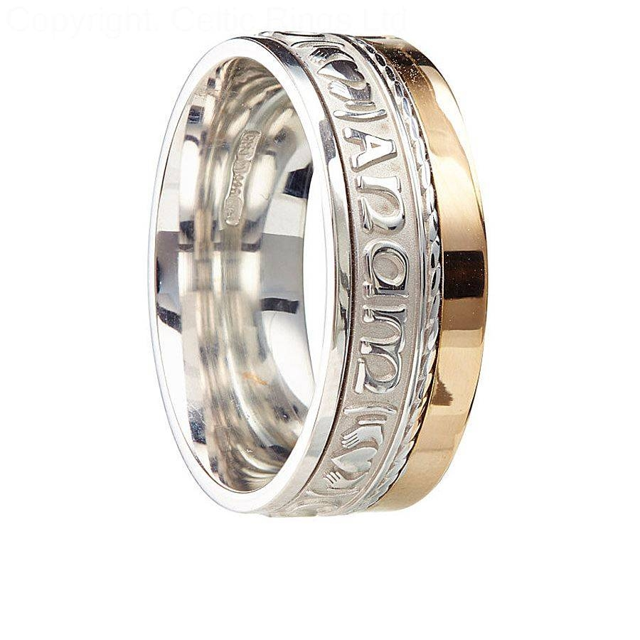 Wedding Rings : Mens Celtic Wedding Bands Gold Irish Celtic For Irish Wedding Bands For Men (View 12 of 15)