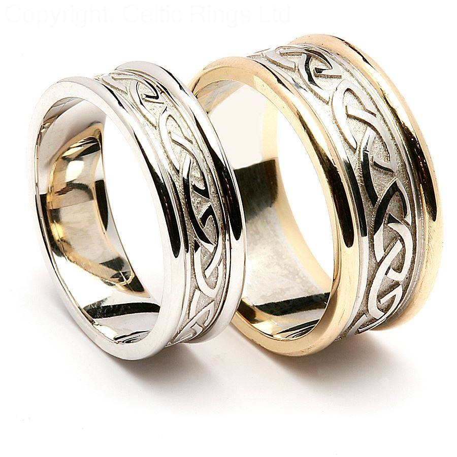 Wedding Rings : Mens Celtic Wedding Bands Gold Irish Celtic Inside Irish Wedding Bands For Men (View 13 of 15)