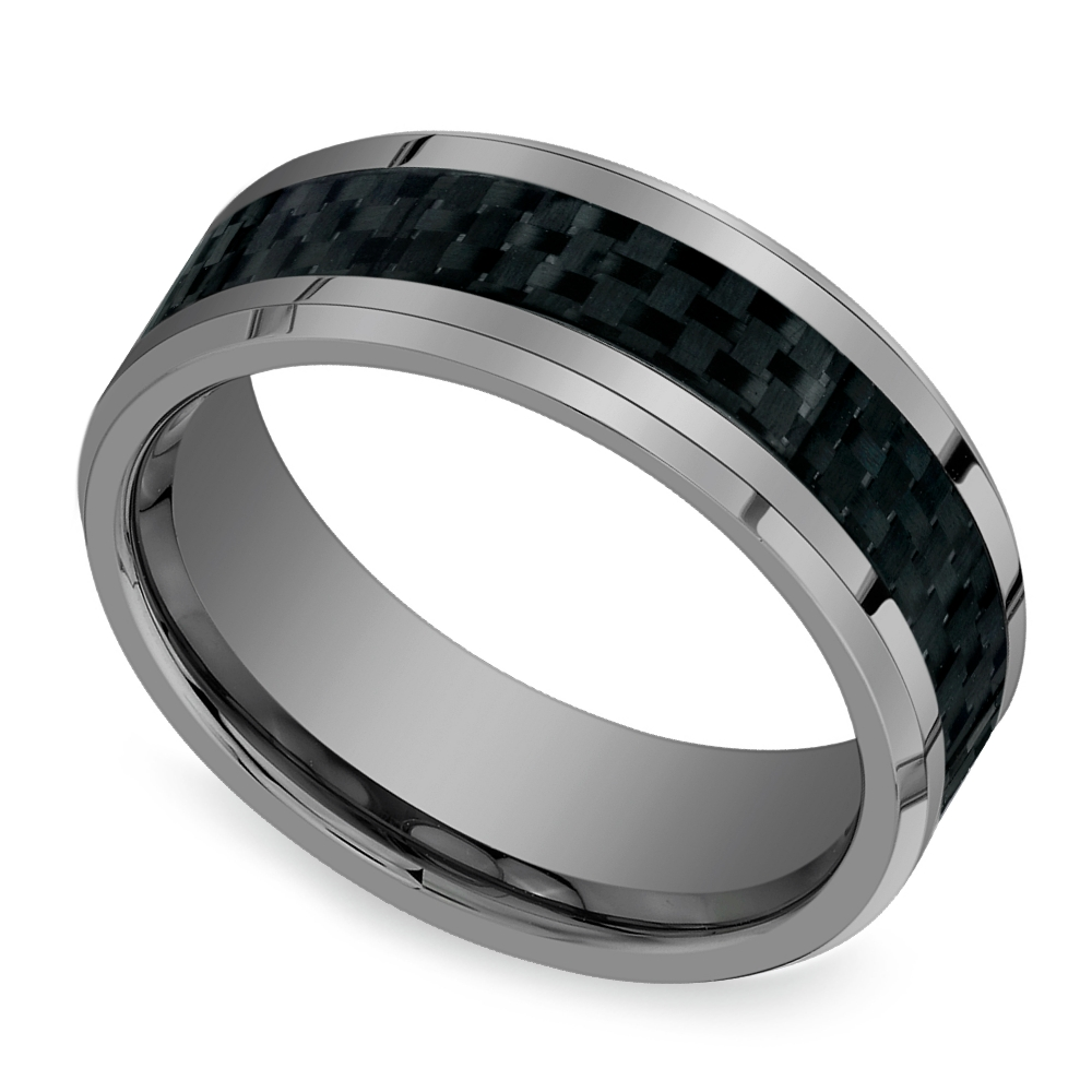 Wedding Rings Mens Tungsten Bands Size 16 Striking Inside Men039s