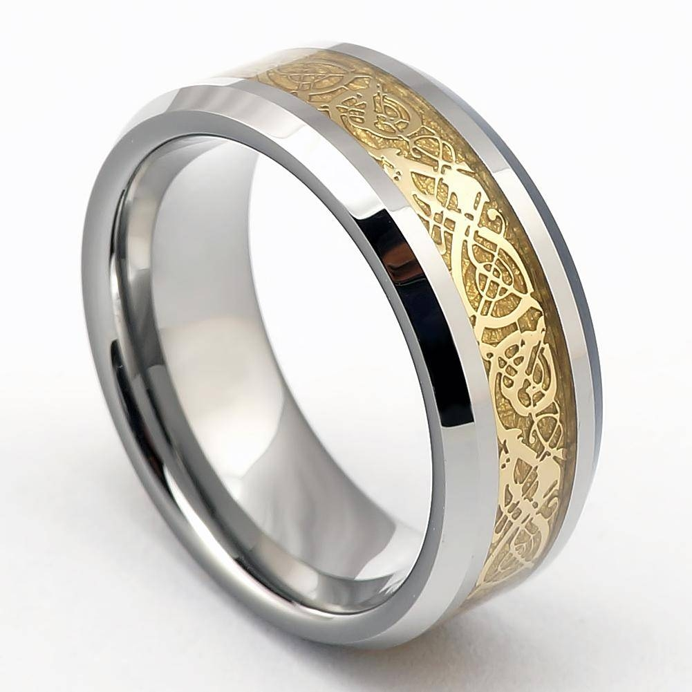 Wedding Rings : Mens Tungsten Wedding Bands Striking Design Of Regarding Cool Wedding Bands For Guys (View 11 of 15)