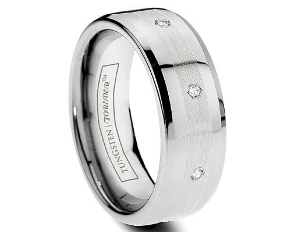 Wedding Rings : Mens Tungsten Wedding Rings Interesting Tungsten With Men's Wedding Bands Size  (View 15 of 15)