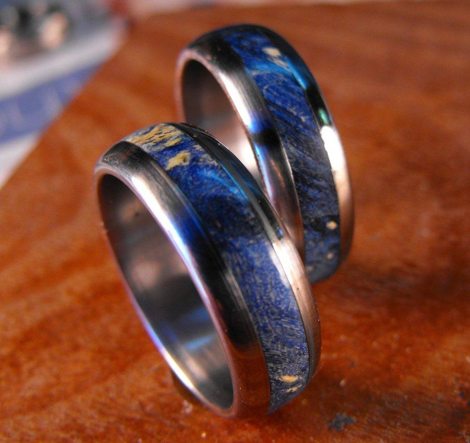 Wedding Rings : Mens Wedding Bands Beautiful Mens Wedding Rings In Blue Wedding Bands For Him (View 11 of 15)