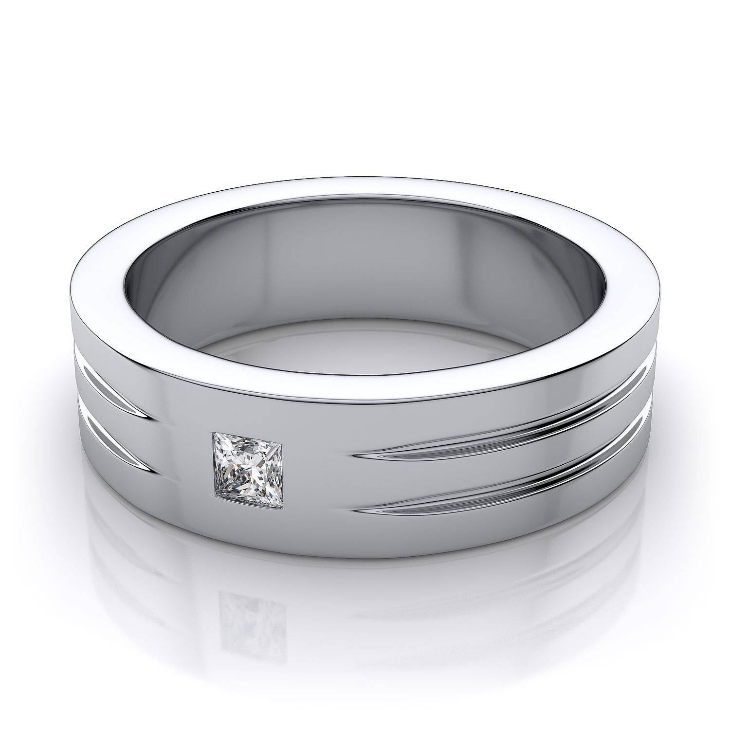 Wedding Rings : Mens White Gold Diamond Cut Wedding Bands White Intended For White Gold Wedding Bands For Him (View 14 of 15)