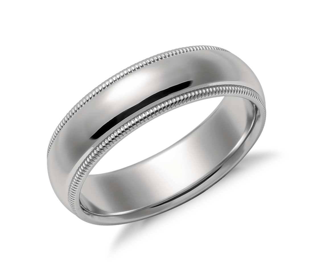 milgrain edges store dsf band bands platinum w m wedding