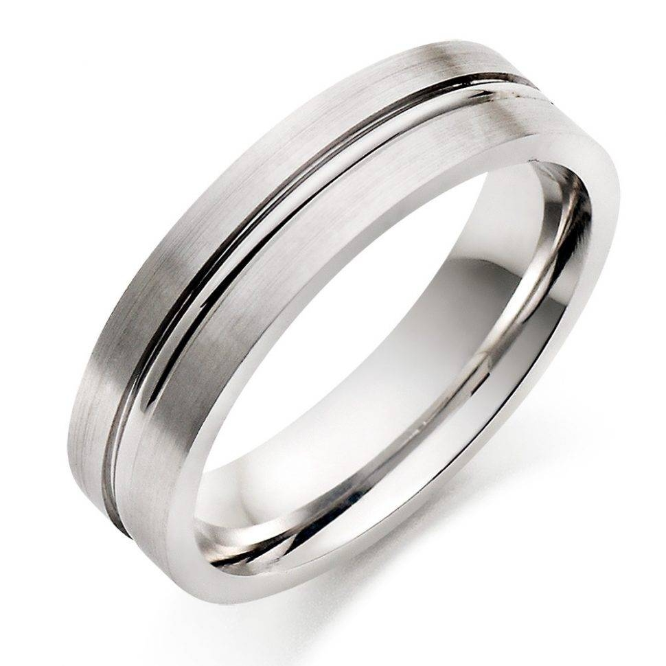 Wedding Rings : Platinum And White Gold Mens Wedding Band White In Platinum Band Wedding Rings (View 12 of 15)