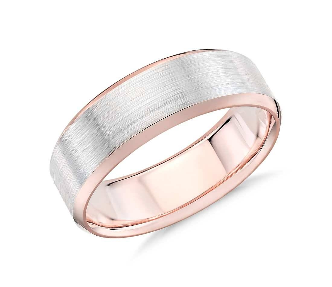 Wedding Rings : Rose Gold Engagement Ring With Silver Wedding Band Inside Male Rose Gold Wedding Bands (View 14 of 15)