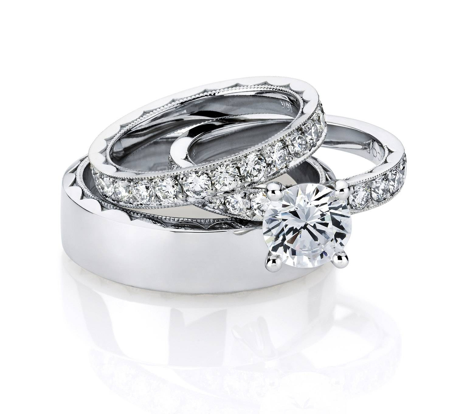 Wedding Rings Sets For Him And Her | Wedding, Promise, Diamond Inside Wedding Bands Set For Him And Her (View 14 of 15)
