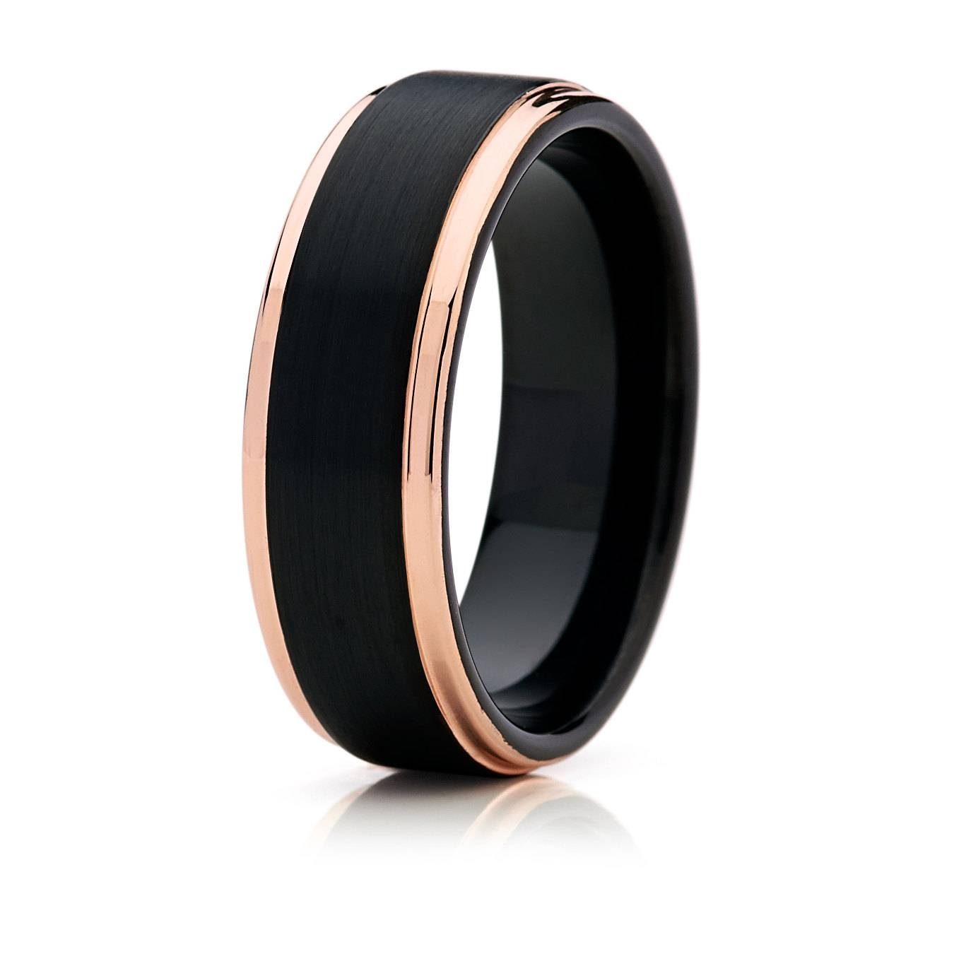 Wedding Rings : Silver Tungsten Wedding Bands For Men Striking With Black And Silver Men's Wedding Bands (View 6 of 15)