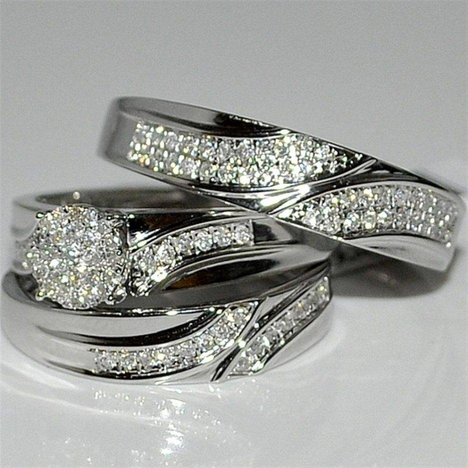 Wedding Rings : Silver Wedding Ring Sets Cheap Sterling Silver For Silver Engagement Ring Sets (View 11 of 15)